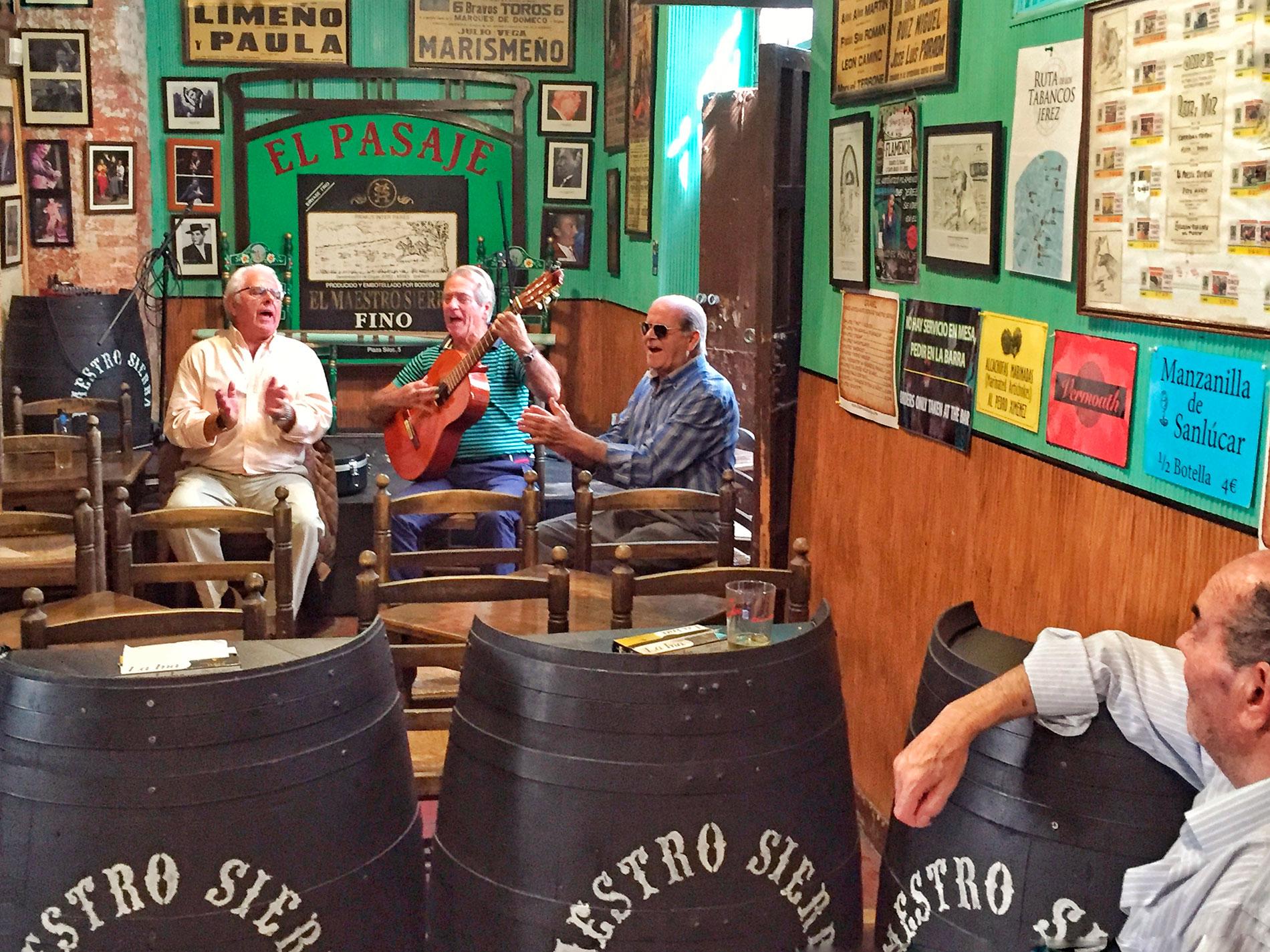Tabanco in Jerez de la Frontera, sherry wines and flamenco