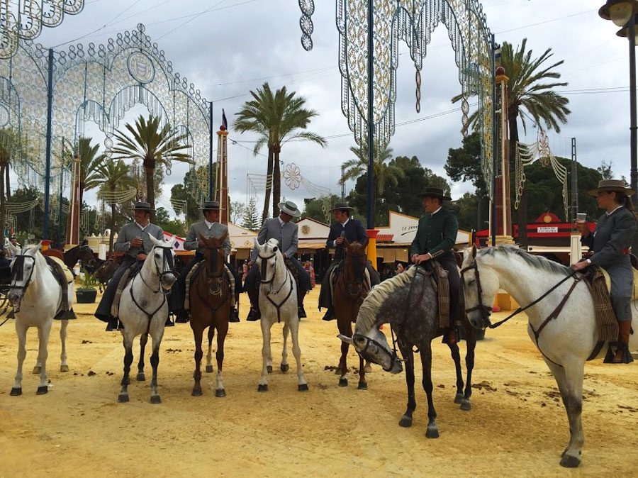 Horses are a basic element in the Jerez Festival, Paladar y Tomar
