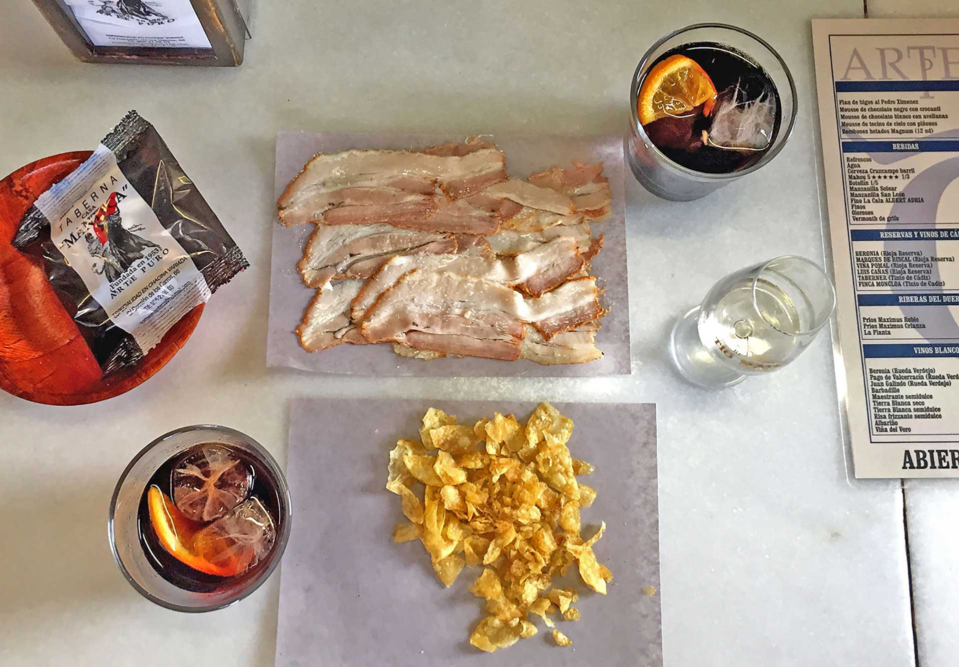 Food, sherry wines, sherry vermouth and tapas are the basics in a tabanco in Jerez