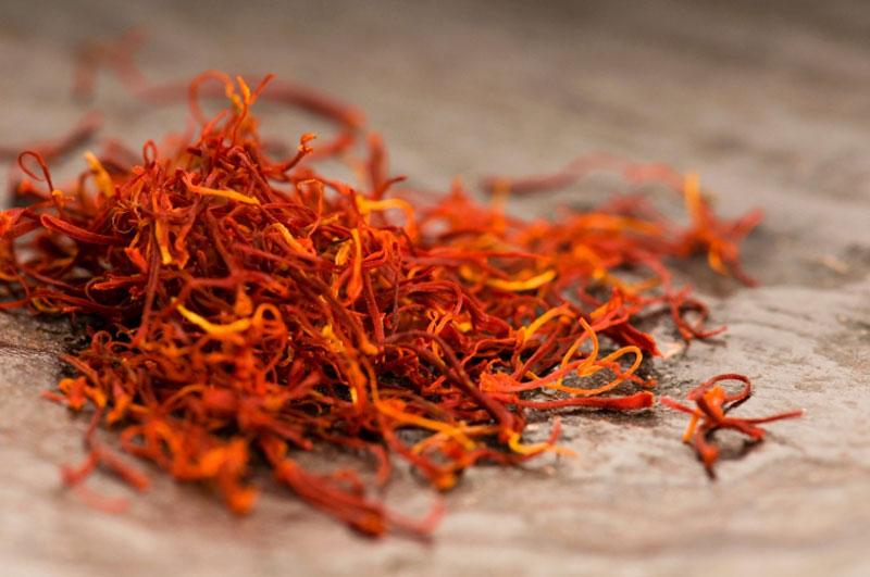 Saffron spicy at Spanish cuisine