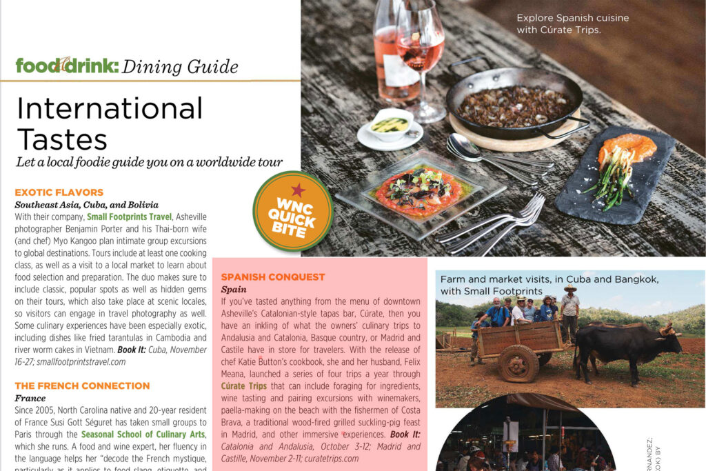Curate Trips mentioned at WNC Magazine, June 2018