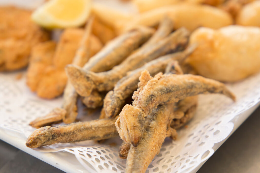Boqueron, small fried sardines at CÚRATE Trips