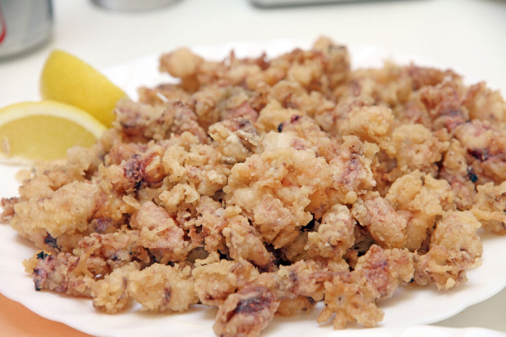 Puntillitas, fried baby calamary at CÚRATE Trips
