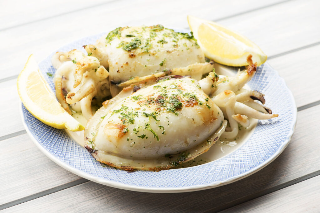 Cuttlefish, simply grilled with olive oil and garlic, CÚRATE Trips