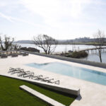 Outdoor pool at Montebelo Vista Alegre hotel in Aveiro, Cúrate Trips