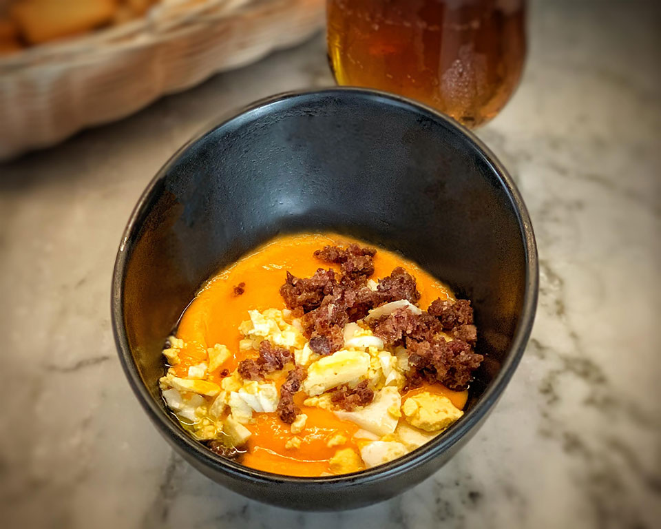 Spanish tapas in Andalusia Salmorejo, a nourishing tapa in every bar in Andalusia