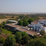 Aerial view of Convento do Espinheiro luxury hotel in Évora, Paladar y Tomar