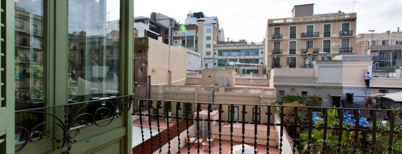 Typical Barcelona Eixample block courtyard in Passeig de Gracia at this luxury apartment