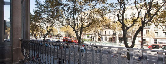 Passeig de Gracia, views form this luxury Barcelona apartment ideal for bespoke holidays
