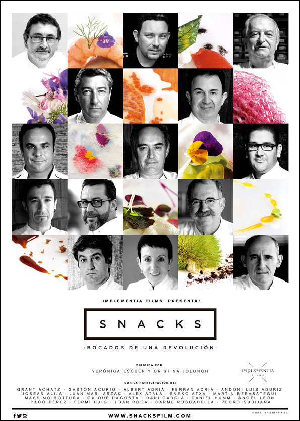"""Snacks, bites of revolution"" a movie about Spanish cooking revolution"