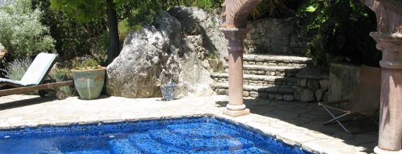 Private pool at this luxury country house in Gaucin, 1 hour drive from Marbella