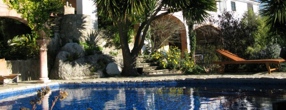 Private pool at this luxury country house in Gaucin, a arts village in Malaga