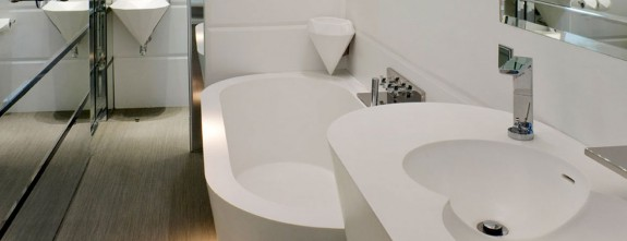 State of the art bathrooms at luxury Suites El Palauet in Barcelona