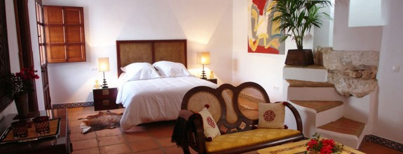 One of the master rooms at this cortijo in Andalusia countryside