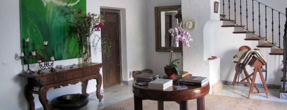 The historical cortijo is furnished with great antiques, Andalusia luxury holidays