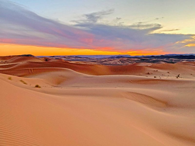 Sunset in the Sahara Desert, Morocco with Cúrate TripsSunset in the Sahara Desert, Morocco with Cúrate Trips