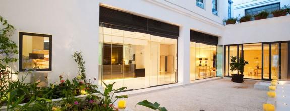 Interior patio at Posada del Patio luxury hotel in Malaga