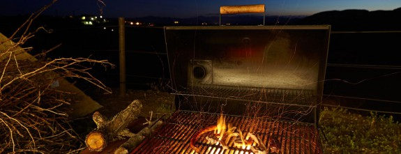 Barbecue by night at this luxury private villa in the Priorat vineyards