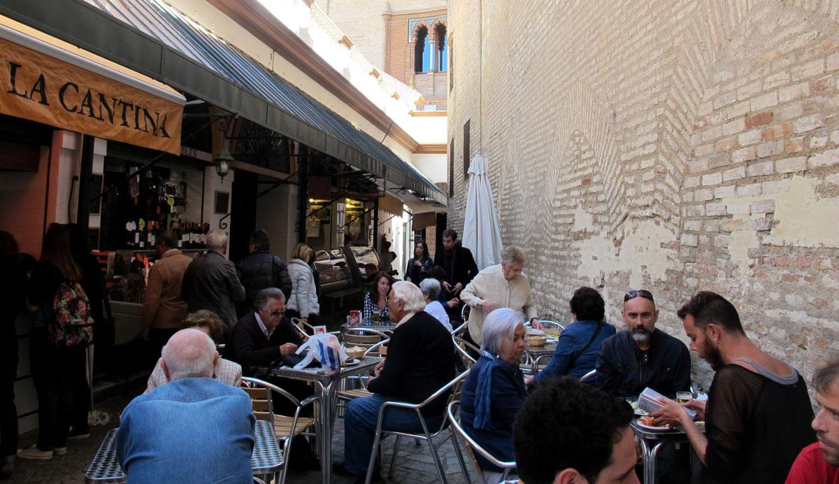 Tapas bars around Feria Market in  Seville