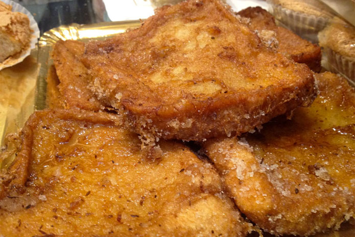 Torrijas are typical sweets from Holly Week in Seville