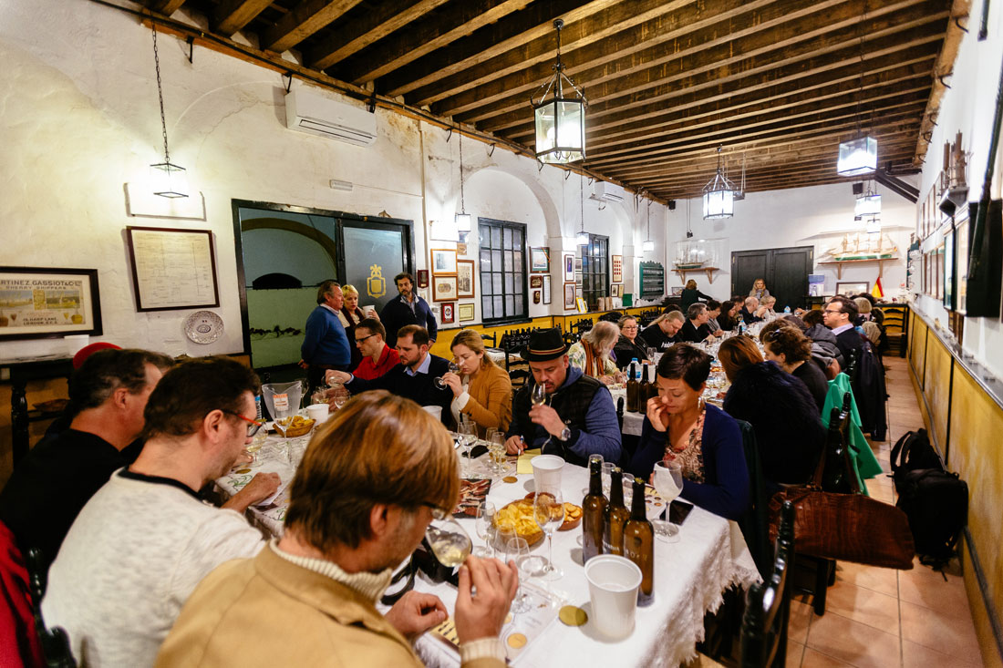 International wine experts at the first Intensive Sherry Wines Education Program